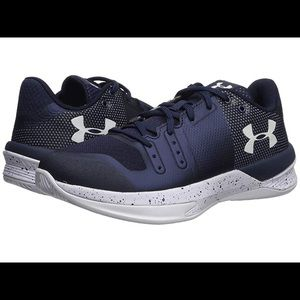 Navy Blue Under Armor Volleyball Shoes